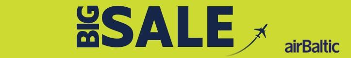 Баннер: большая распродажа от AirBaltic